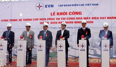 phat lenh khoi cong he thong dien phuc vu du an dien hat nhan ninh thuan