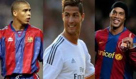 [VIDEO] So tài đi bóng của 3 danh thủ Ronaldo, Ro béo và Ronaldinho
