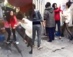 [VIDEO] 'Hot girl' đánh ghen người tình 17 tuổi của chồng