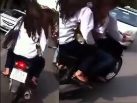 [VIDEO] Cả gan giả danh CSGT rượt đuổi học sinh đèo 3 phóng bạt mạng