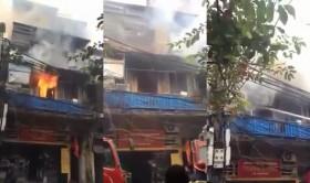 [VIDEO] Cận cảnh cháy lớn ở Hàng Bồ, Hà Nội