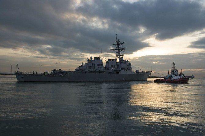 Hải quân Mỹ nói tuyên bố của Bắc Kinh về việc 'trục xuất' John S. McCain khỏi 'lãnh hải của Trung Quốc' trên Biển Đông là sai sự thật. (Nguồn: US Navy)