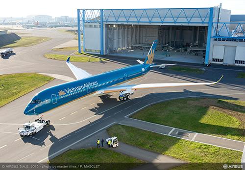 Hình ảnh mới nhất về chiếc Airbus A350 XWB của Vietnam Airlines
