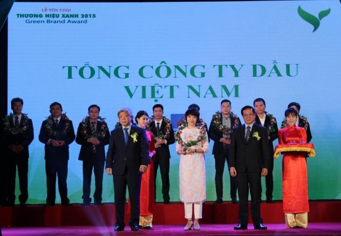 pv oil duoc binh chon la thuong hieu xanh 2015