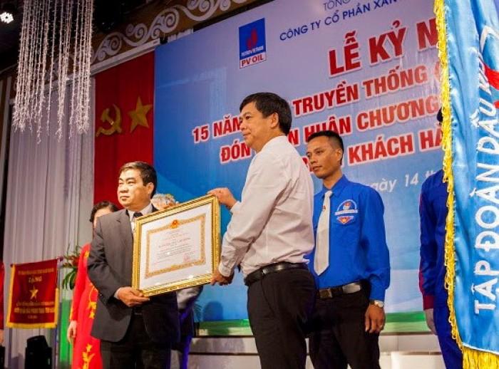 PV OIL Nam Định nhận Huân chương Lao động hạng Ba