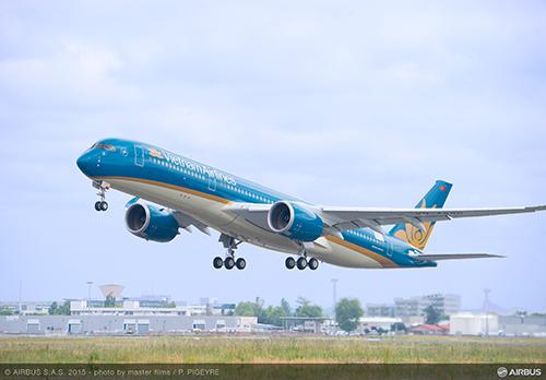 Airbus A350 XWB của Vietnam Airlines bay thử thành công
