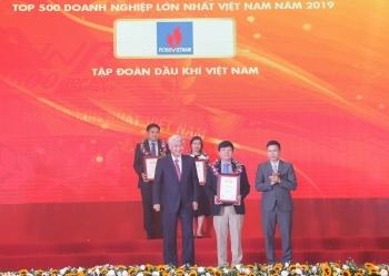 PVN trong TOP3 doanh nghiệp lớn nhất Việt Nam 12 năm liên tiếp