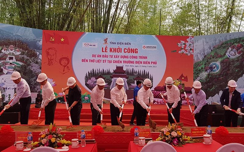 Khởi công xây dựng đền thờ liệt sĩ tại chiến trường Điện Biên Phủ