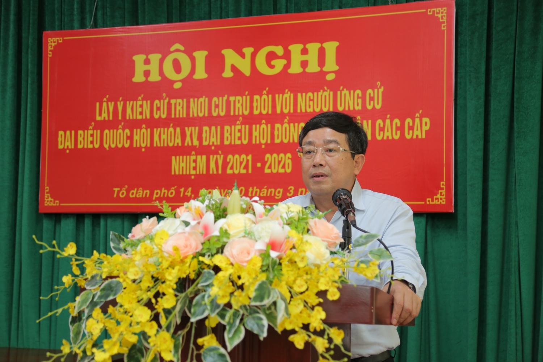Đồng chí Lê Mạnh Hùng được 100% cử tri tại nơi cư trú tín nhiệm giới thiệu ứng cử ĐBQH