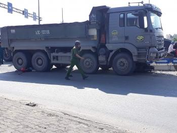 Ô tô tải đâm xe máy, một người tử vong