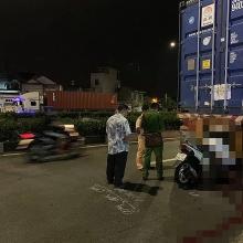 tong vao duoi xe container nam thanh nien tu vong tai cho