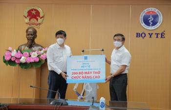 Petrovietnam trao tặng 200 máy thở dòng chức năng cao phục vụ điều trị bệnh nhân Covid-19 nặng