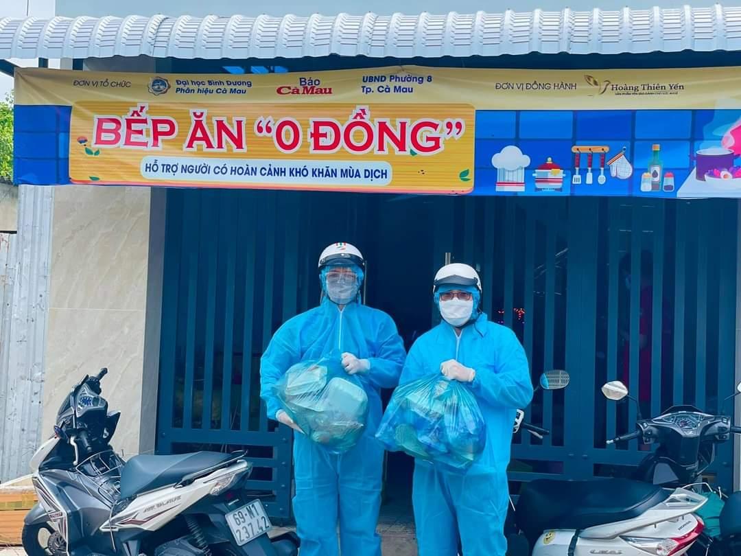"""Công đoàn PVCFC hỗ trợ """"Bếp ăn 0 đồng"""" tại Cà Mau"""