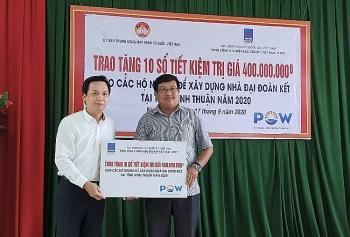 PV Power trao hỗ trợ cho các hộ nghèo tại tỉnh Ninh Thuận