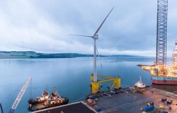 Trang trại điện gió nổi ngoài khơi lớn nhất thế giới bắt đầu hoạt động