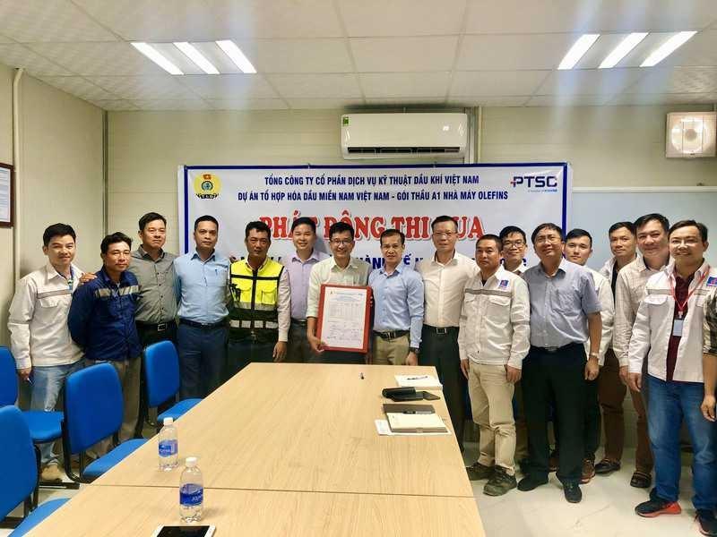 Công đoàn PTSC phát động thi đua tại Dự án Long Sơn