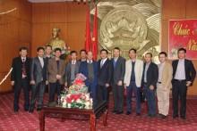 Thành viên HĐTV PVN Đinh Văn Sơn chúc tết tại tỉnh Thái Bình