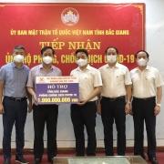 TKV hỗ trợ Bắc Giang hơn 1 tỷ đồng phòng, chống dịch Covid-19