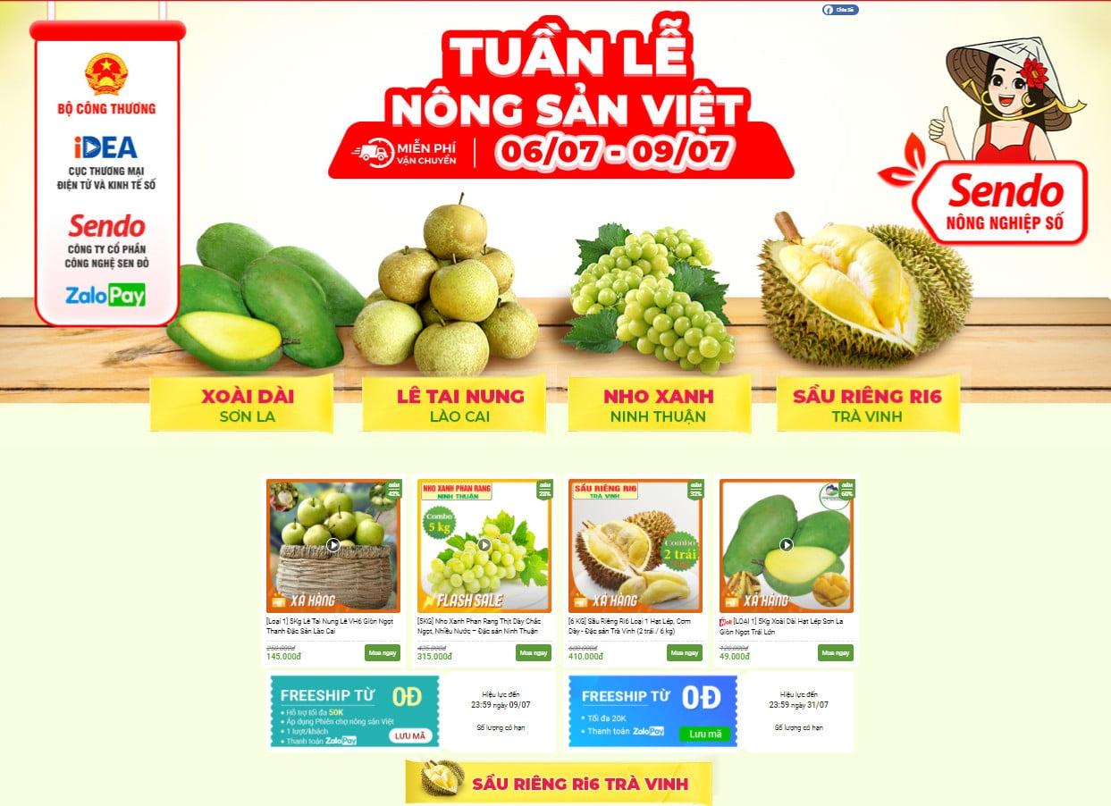 """""""Tuần lễ Nông sản Việt"""" chính thức chạy trên sàn thương mại điện tử"""
