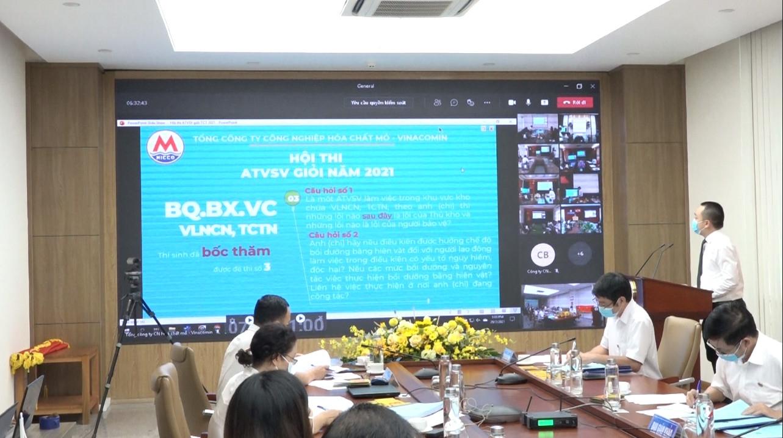 Micco tổ chức Hội thi An toàn vệ sinh viên giỏi năm 2021 bằng hình thức trực tuyến