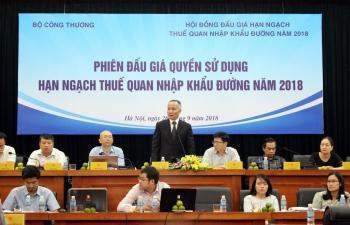 19 thuong nhan thang phien dau gia han ngach nhap khau duong nam 2018