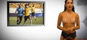 Xem bản tin World Cup được ngắm nữ MC khỏa thân