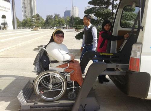 Taxi cho người khuyết tật ở Hà Nội