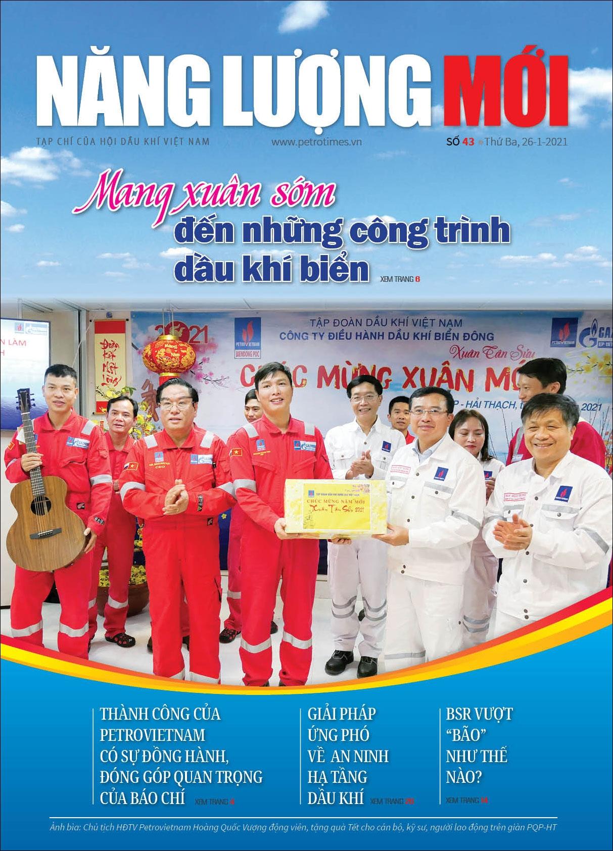 Đón đọc Tạp chí Năng lượng Mới số 43, phát hành thứ Ba ngày 26/1/2021