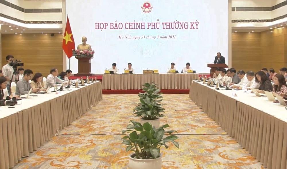 Nghị quyết phiên họp Chính phủ thường kỳ tháng 3/2021