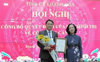Phó Chánh Văn phòng Trung ương Đảng làm Bí thư Tỉnh ủy Khánh Hòa