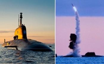 Tàu ngầm hạt nhân Nga phóng tên lửa hành tình 'tử thần Kalibr'