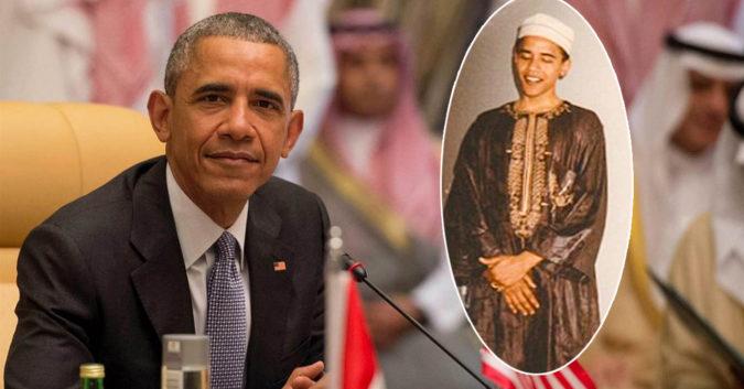 Tổng thống Obama trong trang phục Hồi giáo năm 1990