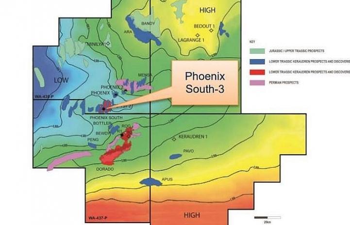 Carnarvon xác định biểu hiện dầu khí tại giếng khoan Phoenix South-3