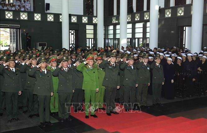 Đoàn Đảng ủy Công an Trung ương, Bộ Công an viếng Chủ tịch nước Trần Đại Quang