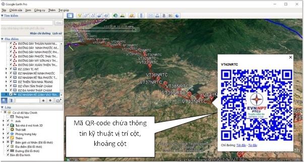 """Ứng dụng """"Google Earth Pro"""" trong công tác quản lý kỹ thuật lưới điện truyền tải"""