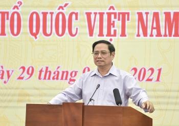 Thủ tướng Phạm Minh Chính chủ trì Hội nghị giữa Thường trực Chính phủ và Ủy ban Trung ương Mặt trận Tổ quốc Việt Nam
