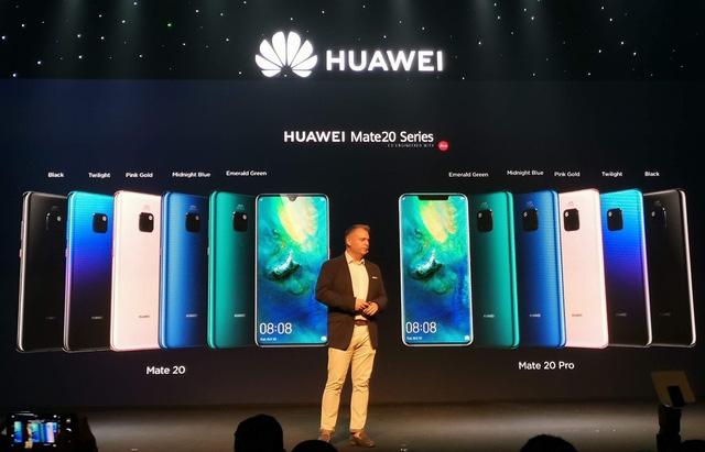 smartphone 3 camera huawei mate 20 pro chinh thuc ra mat gia 219 trieu dong