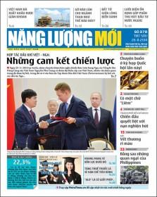 Đón đọc Báo Năng lượng Mới số 378, phát hành thứ Sáu ngày 28/11/2014