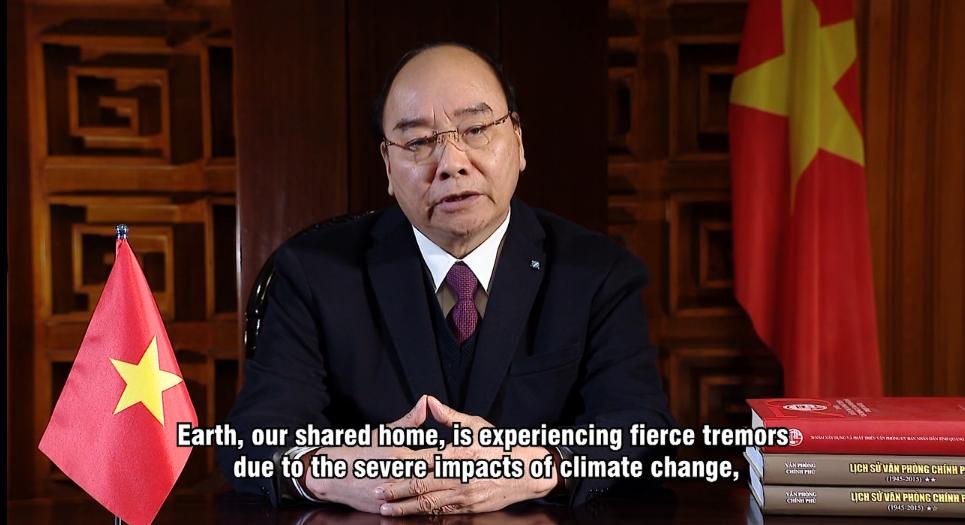 Thủ tướng Chính phủ Nguyễn Xuân Phúc gửi Thông điệp tới Hội nghị Thượng đỉnh trực tuyến về thích ứng với biến đổi khí hậu