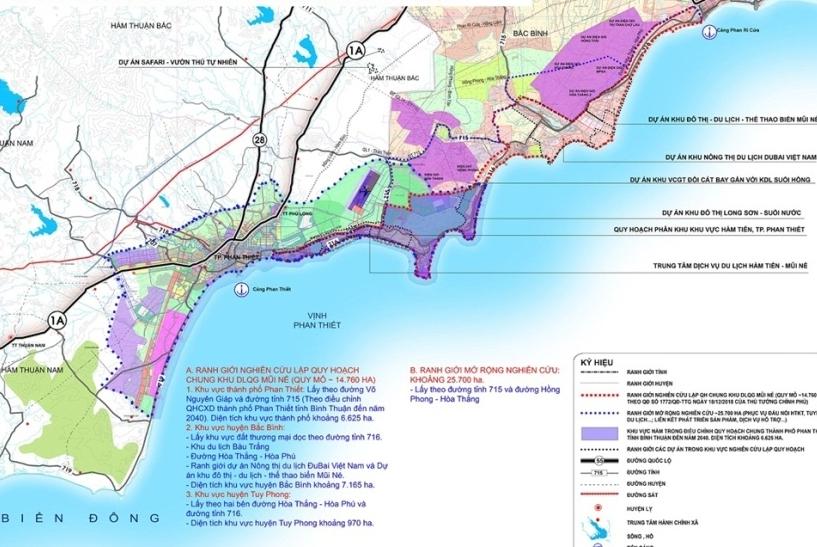 Quy hoạch khu du lịch quốc gia Mũi Né mang tầm quốc tế