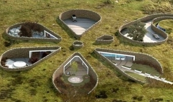 Độc đáo ngôi nhà dưới lòng đất sử dụng năng lượng tái tạo