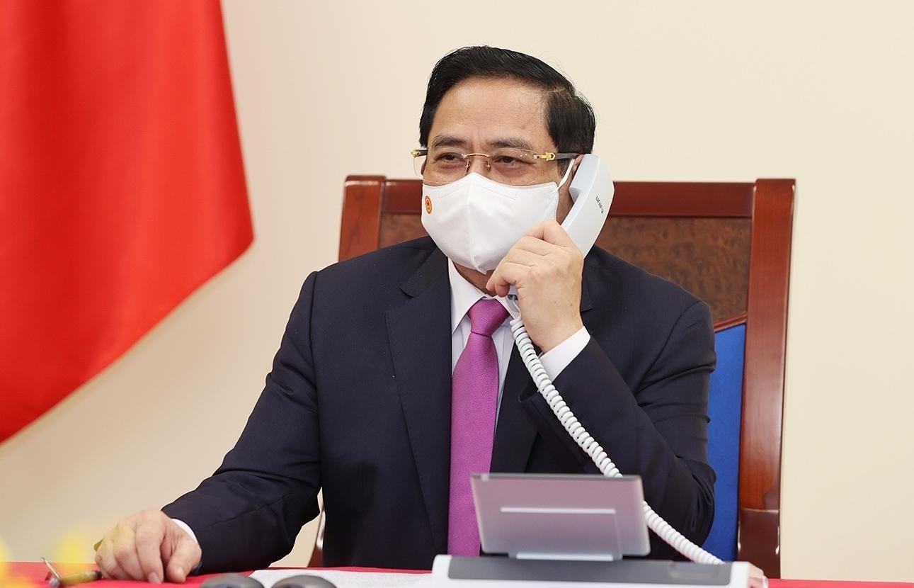 Thủ tướng Chính phủ Phạm Minh Chính điện đàm với Thủ tướng Trung Quốc