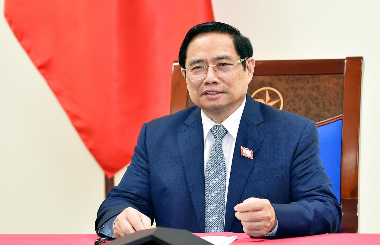 Thủ tướng Chính phủ Phạm Minh Chính điện đàm với Thủ tướng Nội các Hàn Quốc Kim Boo Kyum