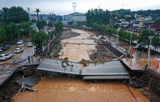 Điện thăm hỏi về tình hình mưa lũ tại Hà Nam, Trung Quốc