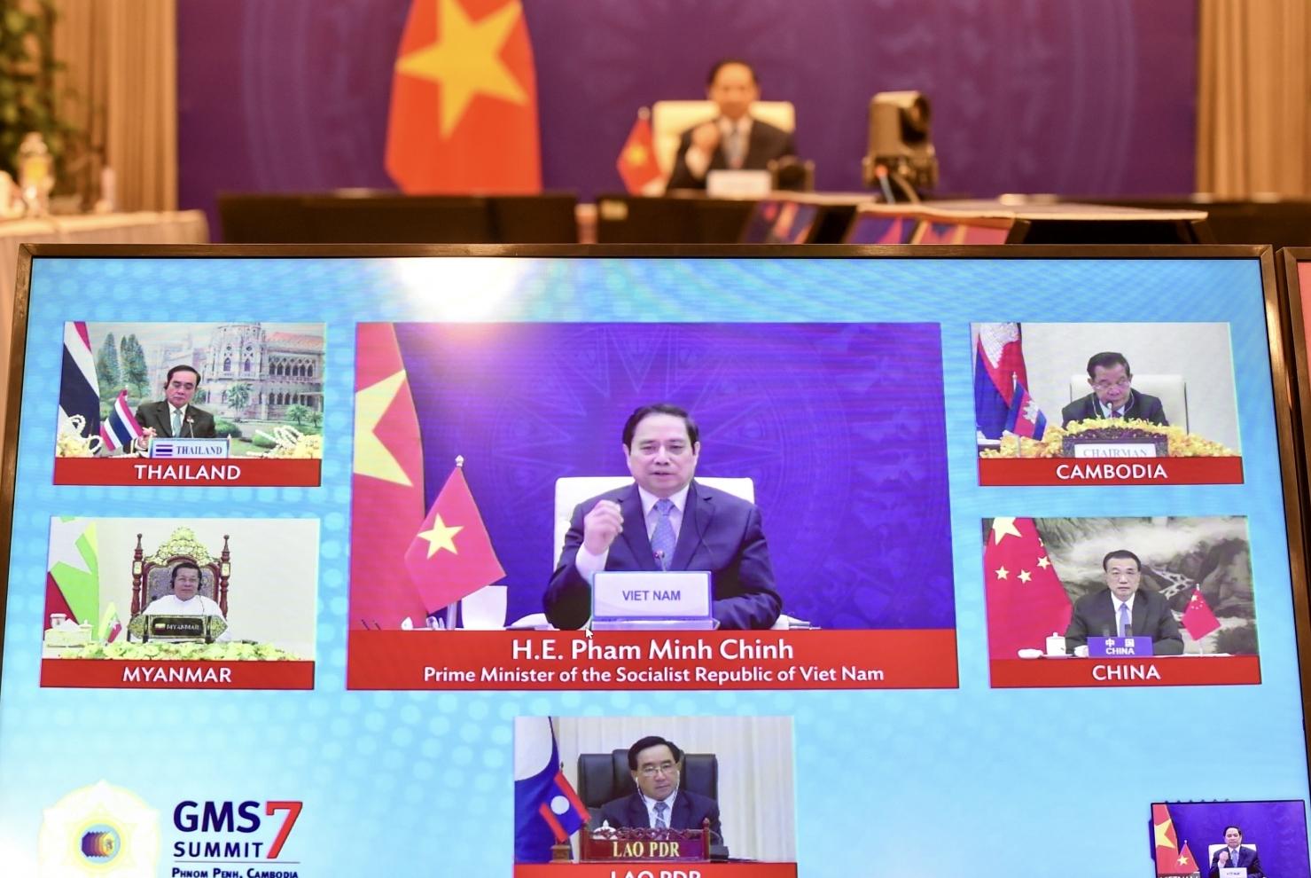 Thủ tướng Phạm Minh Chính dự Hội nghị Thượng đỉnh hợp tác Tiểu vùng Mekong mở rộng lần thứ 7