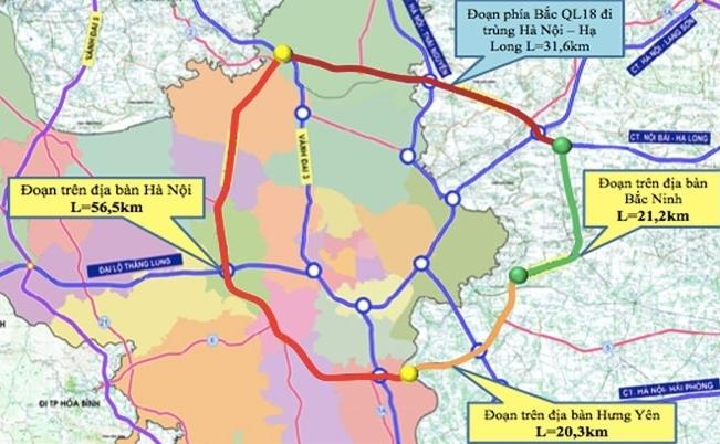 Hà Nội: Đồng ý chủ trương triển khai dự án đầu tư xây dựng tuyến đường Vành đai 4