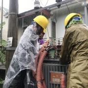 Tình hình khôi phục cung cấp điện trong thời tiết mưa lũ ở Hà Tĩnh