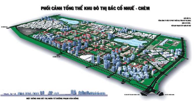 Hà Nội: Điều chỉnh cục bộ quy hoạch chi tiết khu vực Bắc Cổ Nhuế - Chèm