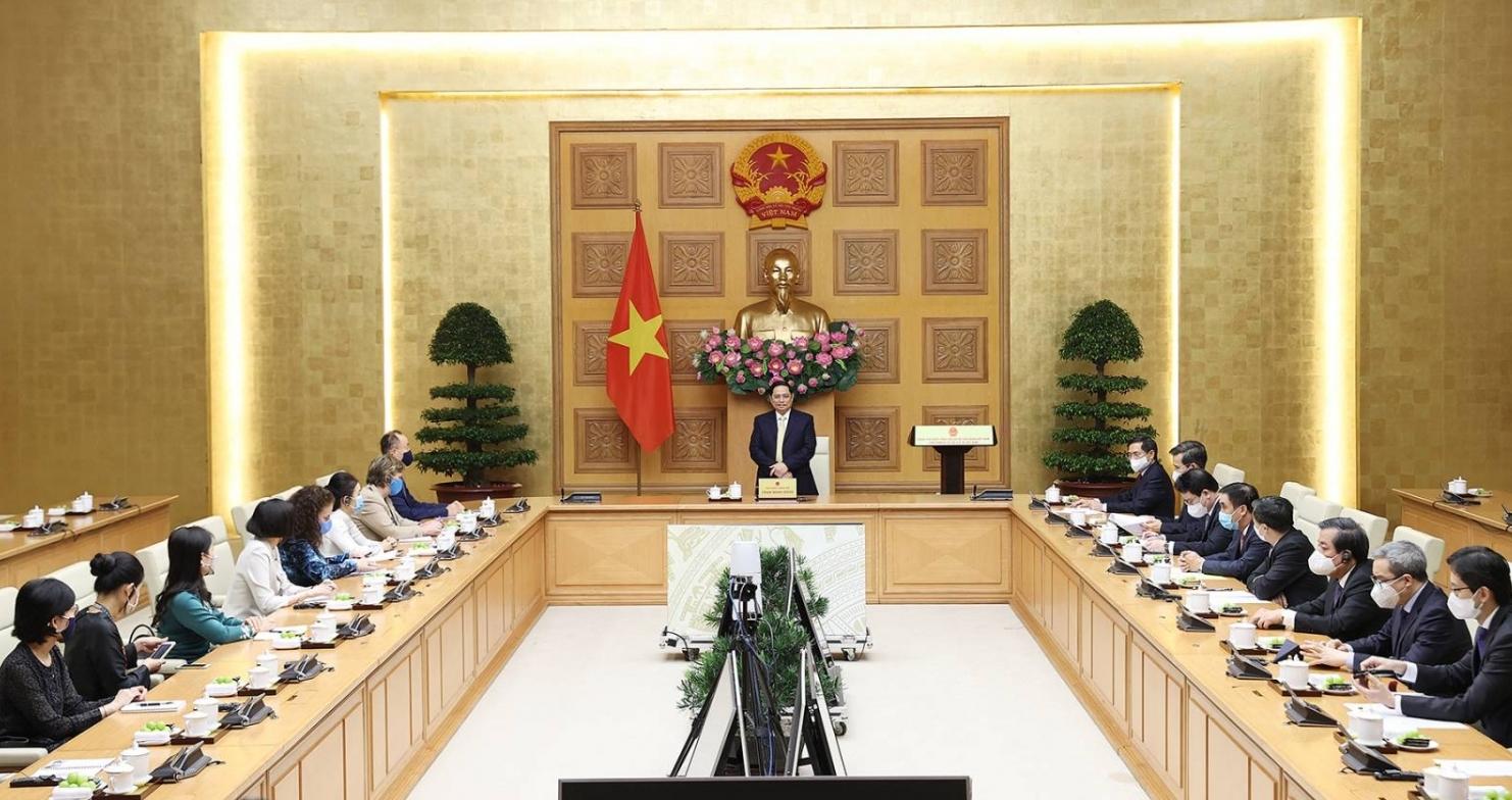Thủ tướng Chính phủ Phạm Minh Chính tiếp đoàn các Đại diện các tổ chức của Liên hợp quốc tại Việt Nam