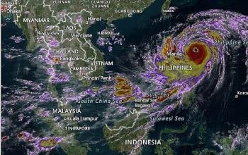 Đường đi của siêu bão Mangkhut như thế nào?